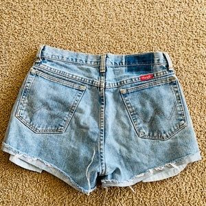 Vintage Wrangler denim cut off shorts distressed
